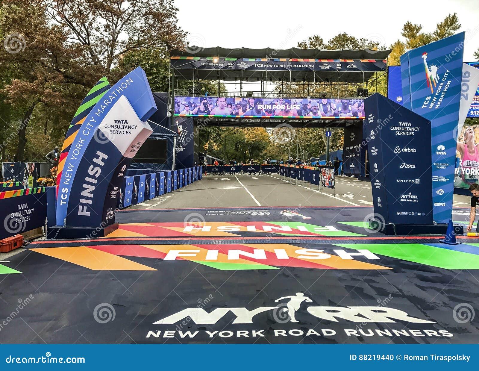 NYC maratonu koniec
