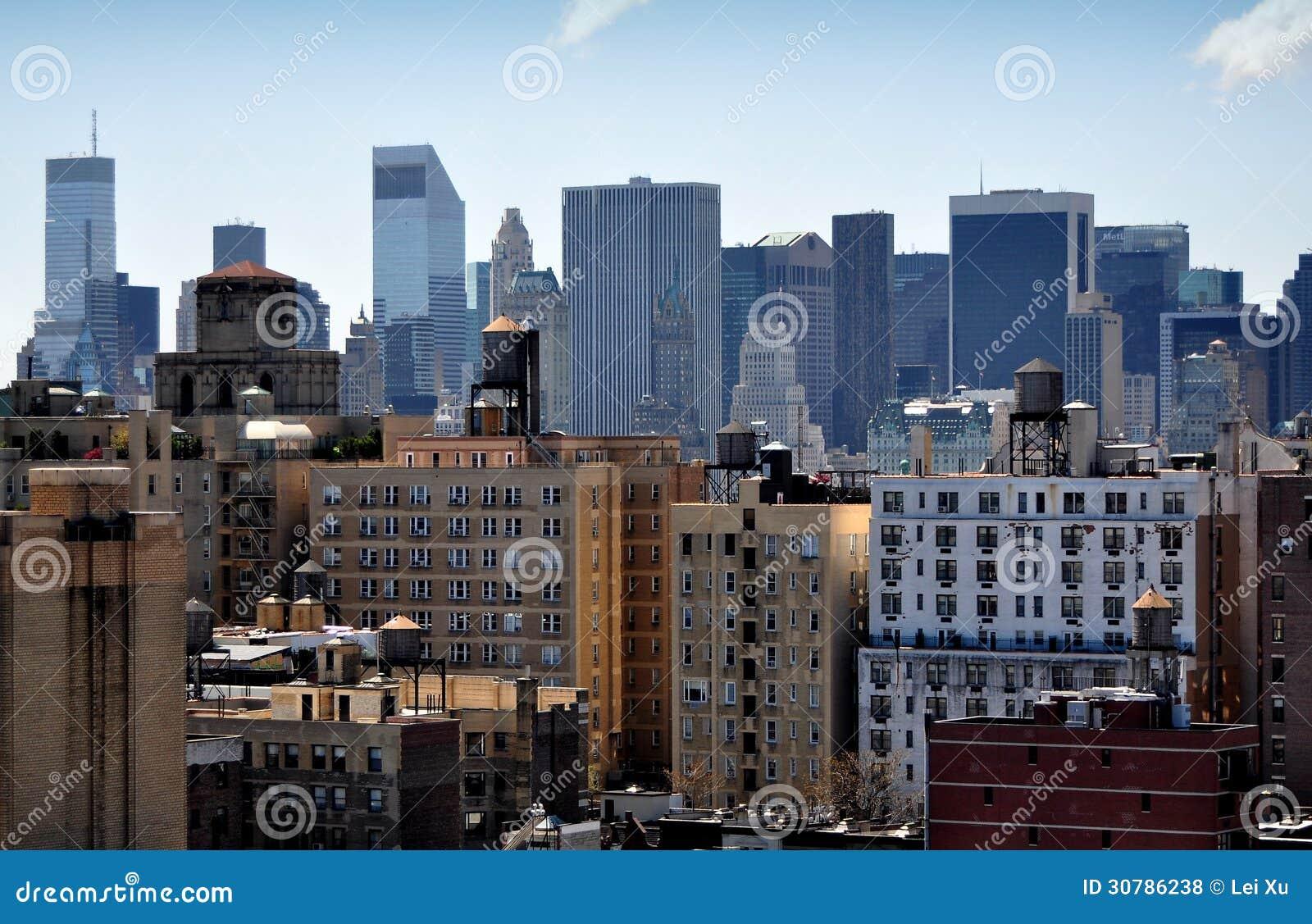 Nyc Midtown Manhattan Skyline Royalty Free Stock Photos