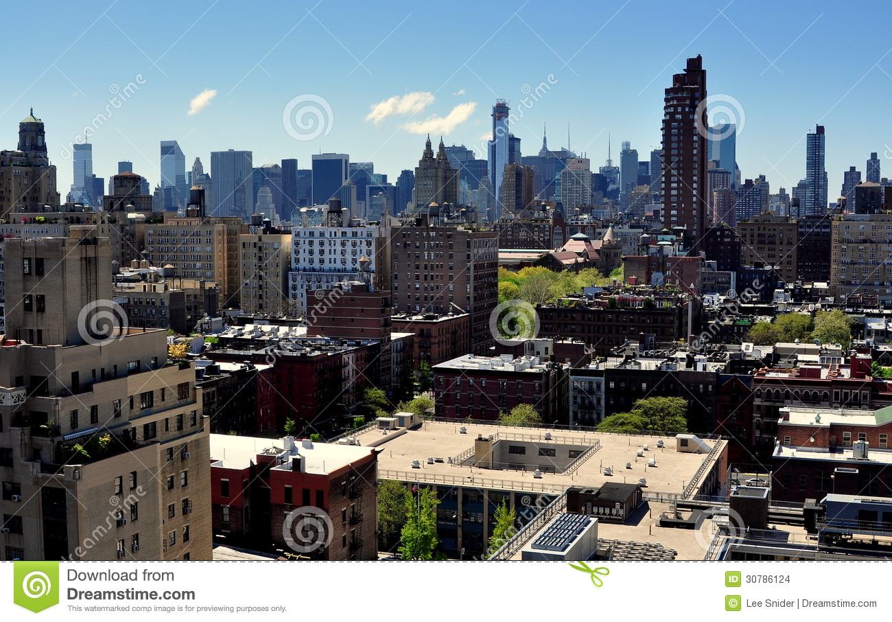 Nyc midtown manhattan skyline stock images image 30786124 for Apartments upper west side manhattan
