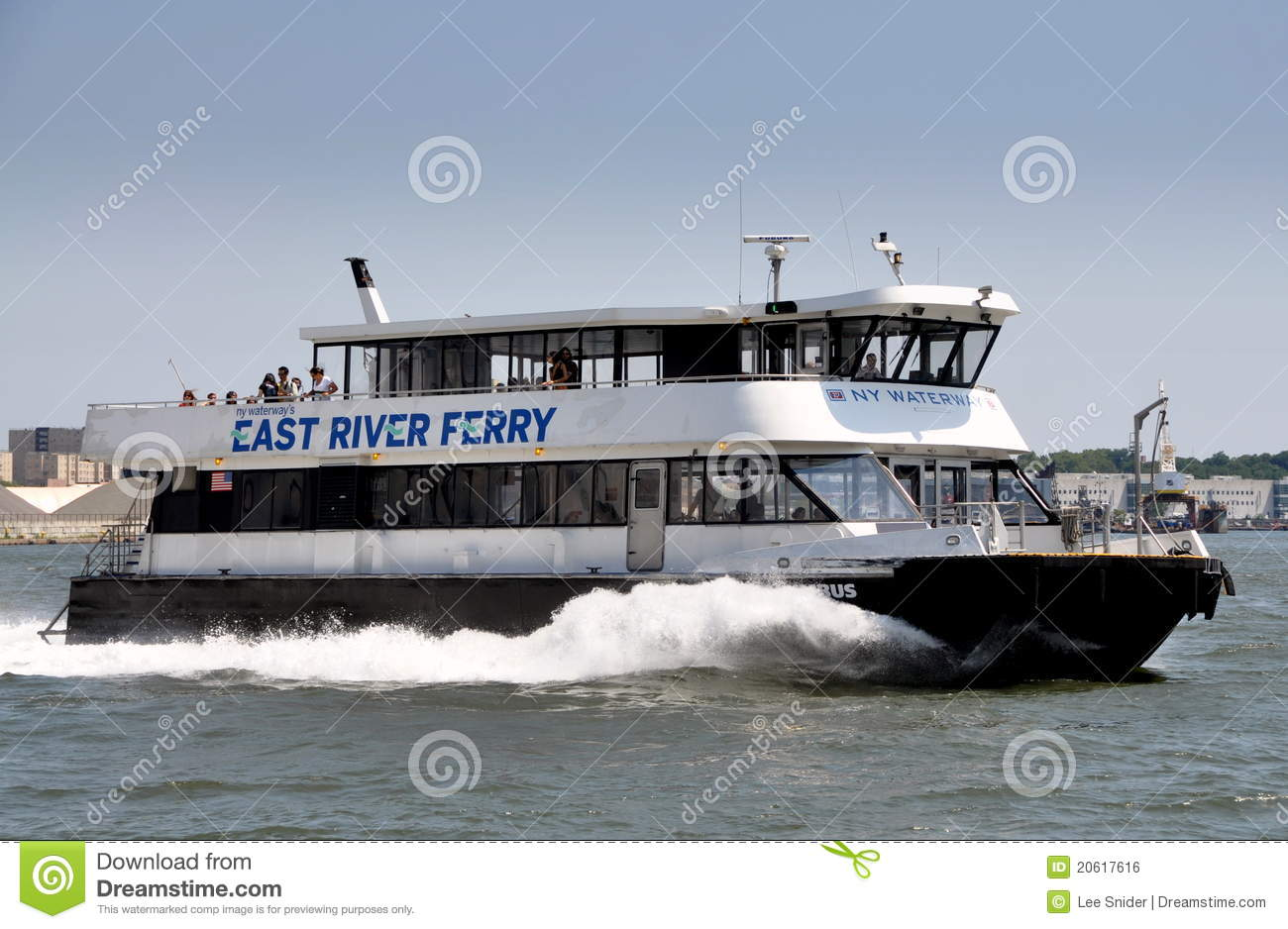 NYC: NY Waterway Ferry Boat Editorial Photo - Image of east, ferry: 20617616