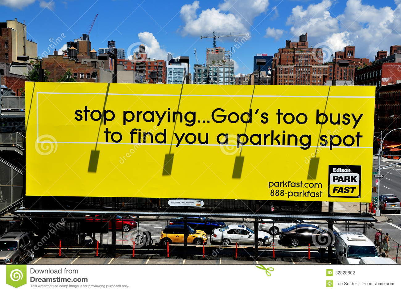 Nyc Parking Lot Sign Editorial Photography Image 32828802