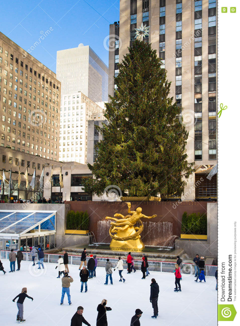Nyc During Christmas.Nyc Rockefeller Center Christmas Editorial Photo Image Of