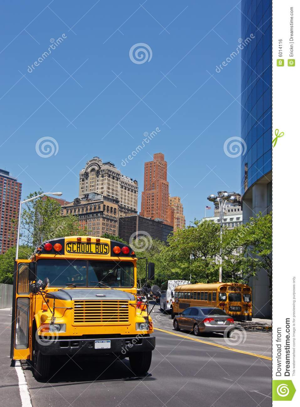 NYC School Bus Stock Photo. Image Of Manhattan, States