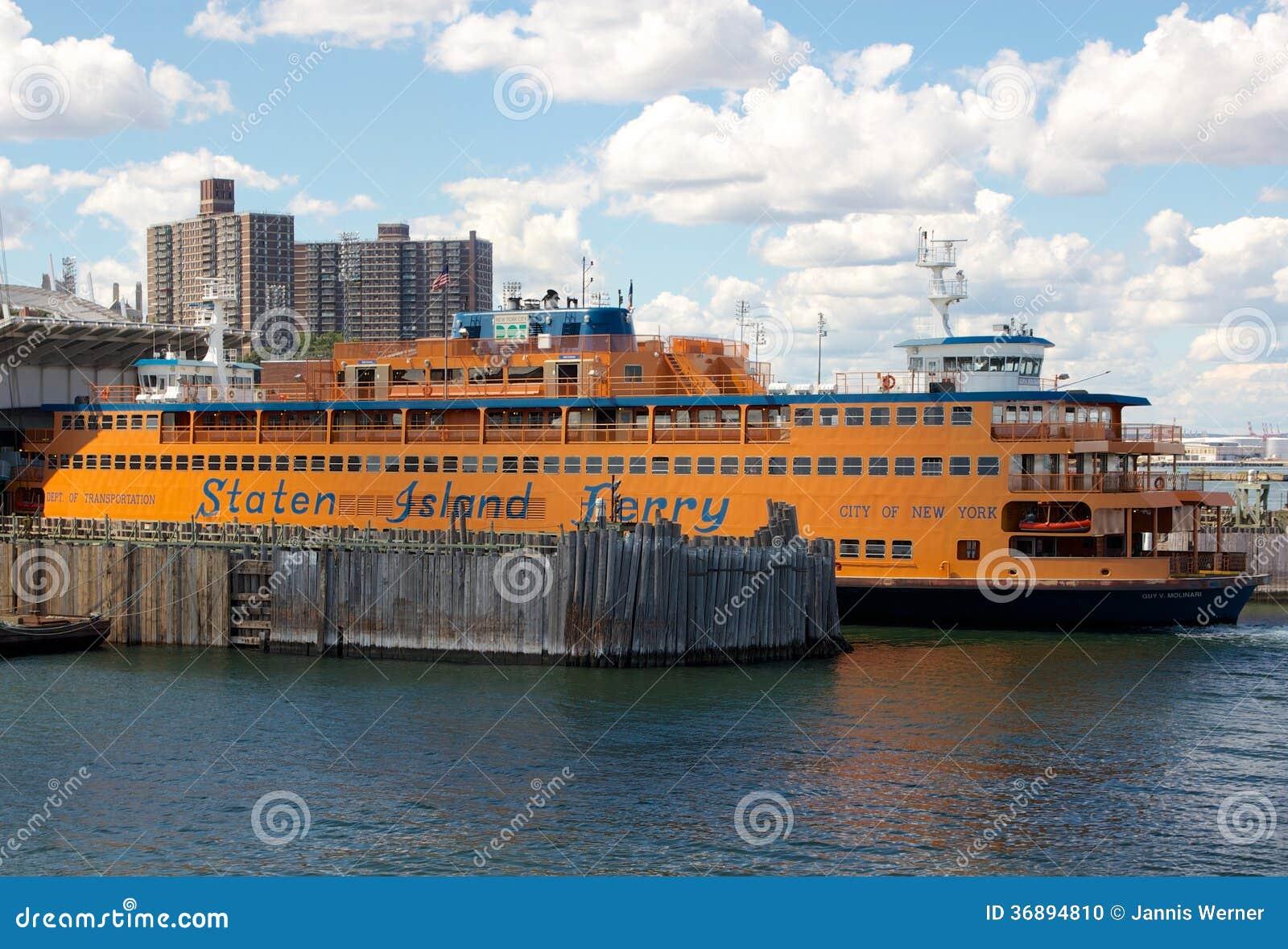 Download NYC Staten Island Ferry immagine editoriale. Immagine di navi - 36894810