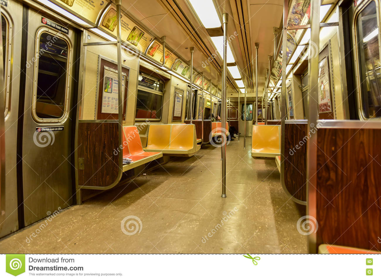 nyc mta subway car interior editorial photo 14995083. Black Bedroom Furniture Sets. Home Design Ideas