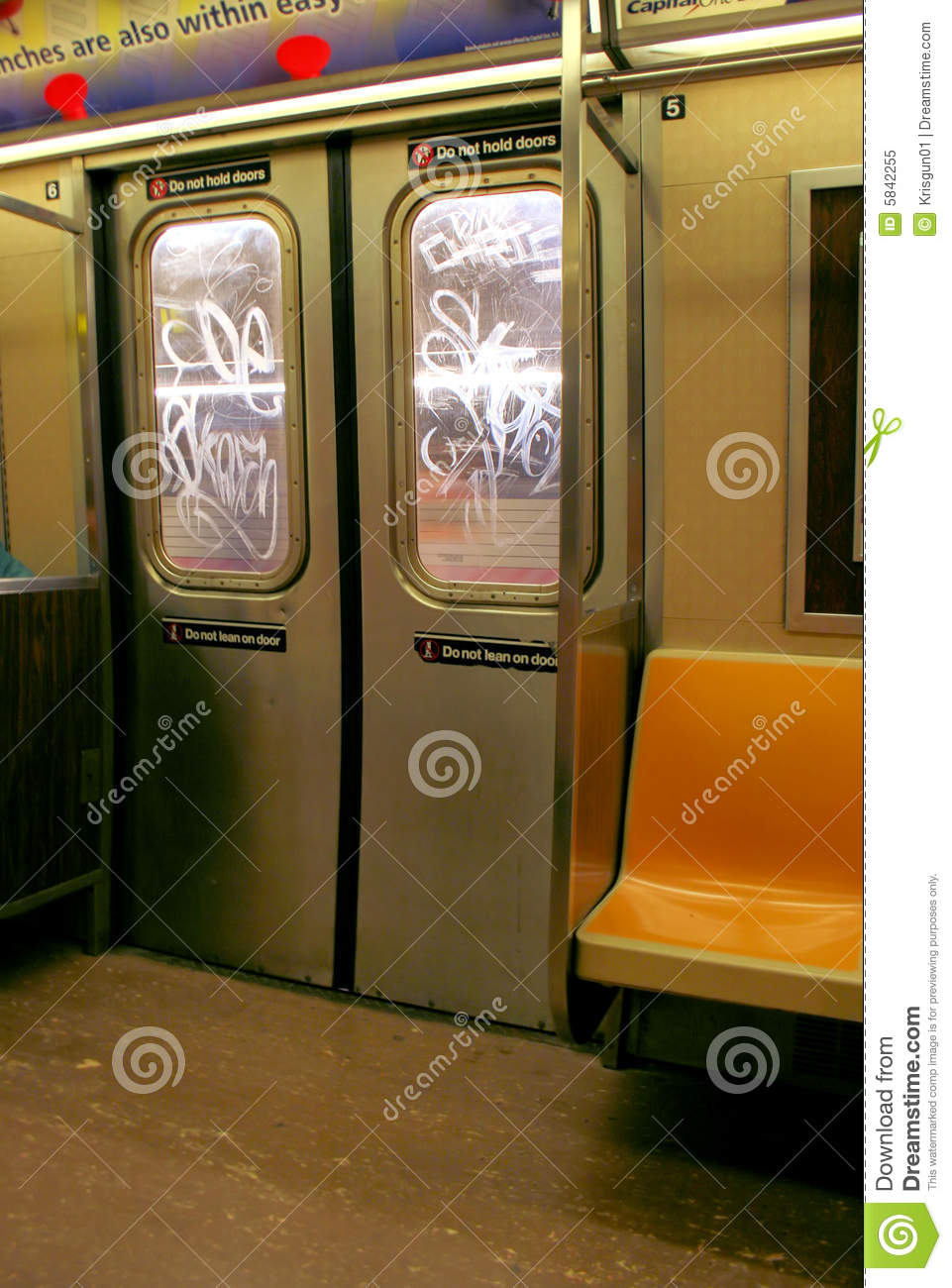 Nyc Subway Doors Royalty Free Stock Photo Image 5842255