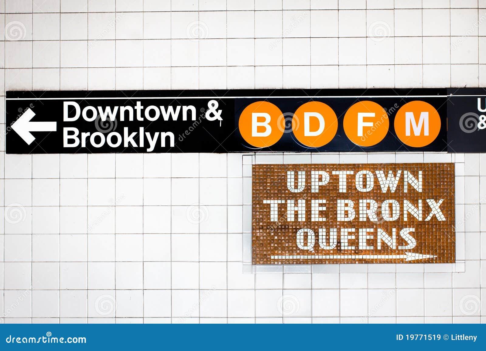 NYC Subway Sign stock image. Image of street, manhattan - 19771519