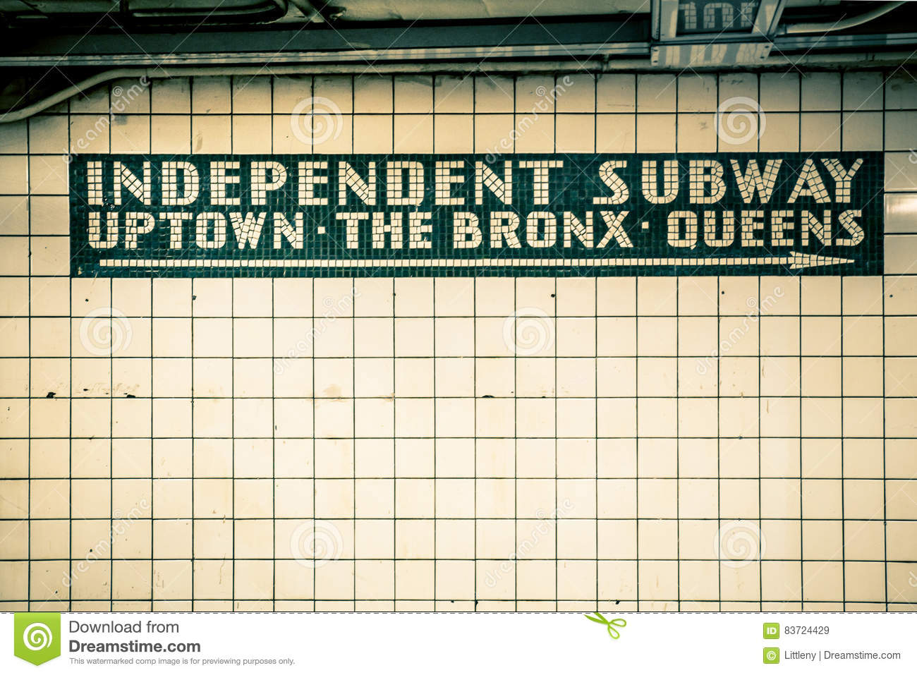 Nyc Subway Tile Wall Stock Image Image Of Uptown Station 83724429