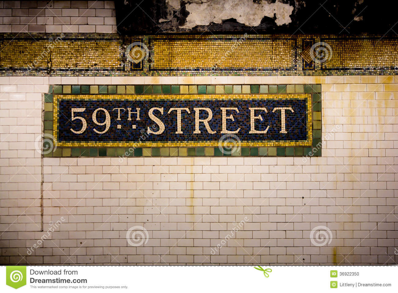 Nyc Subway Wall Stock Photo Image Of Transportation 36922350