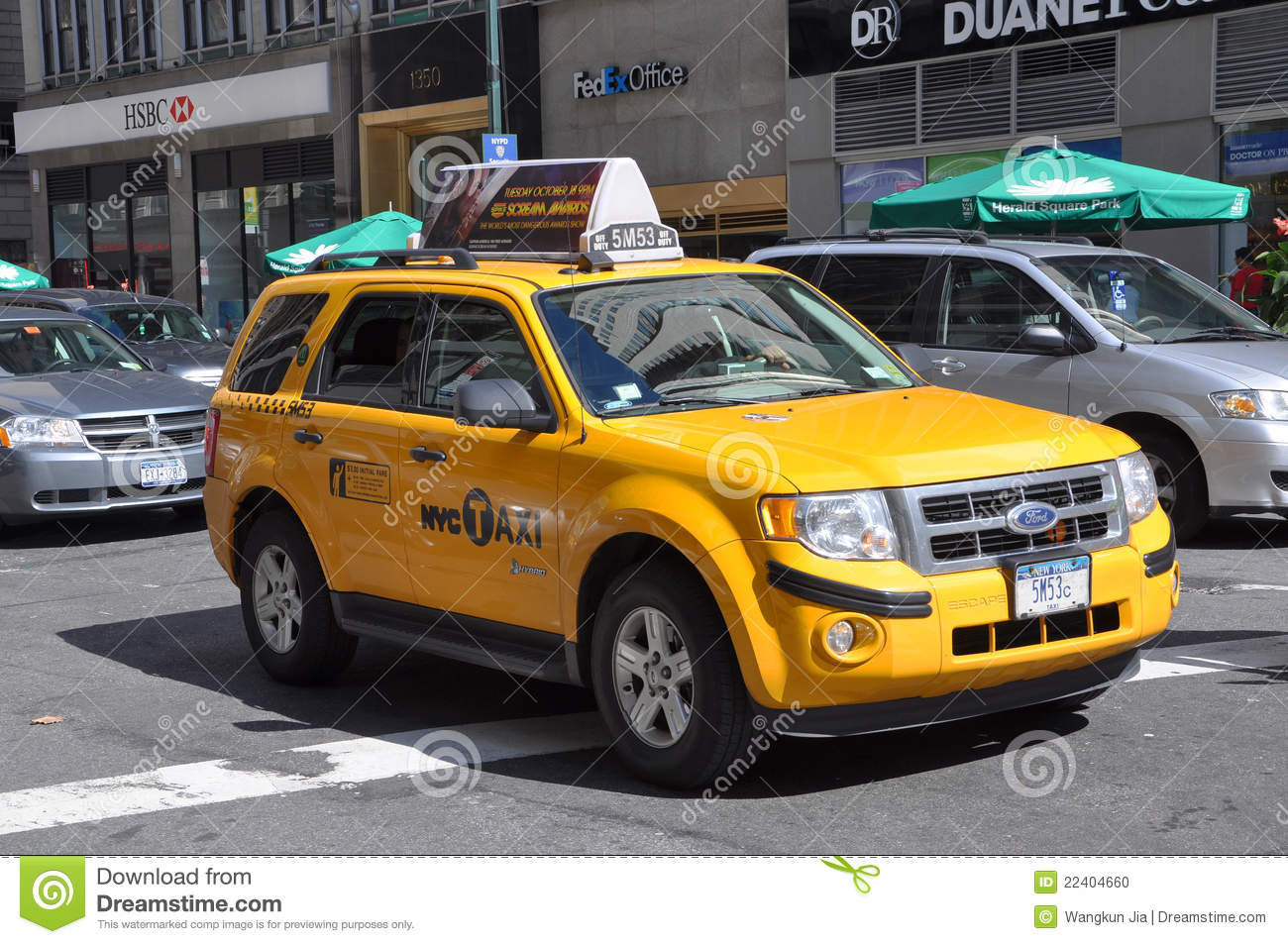 NYC Taxi, Yellow Cab In New York City Editorial Image