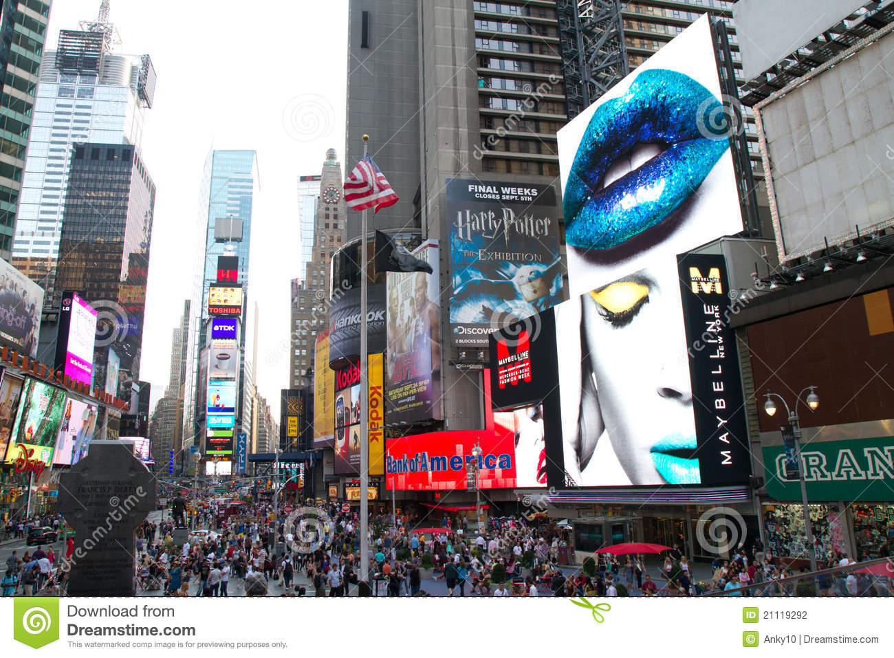 nyc  times square ads editorial photography