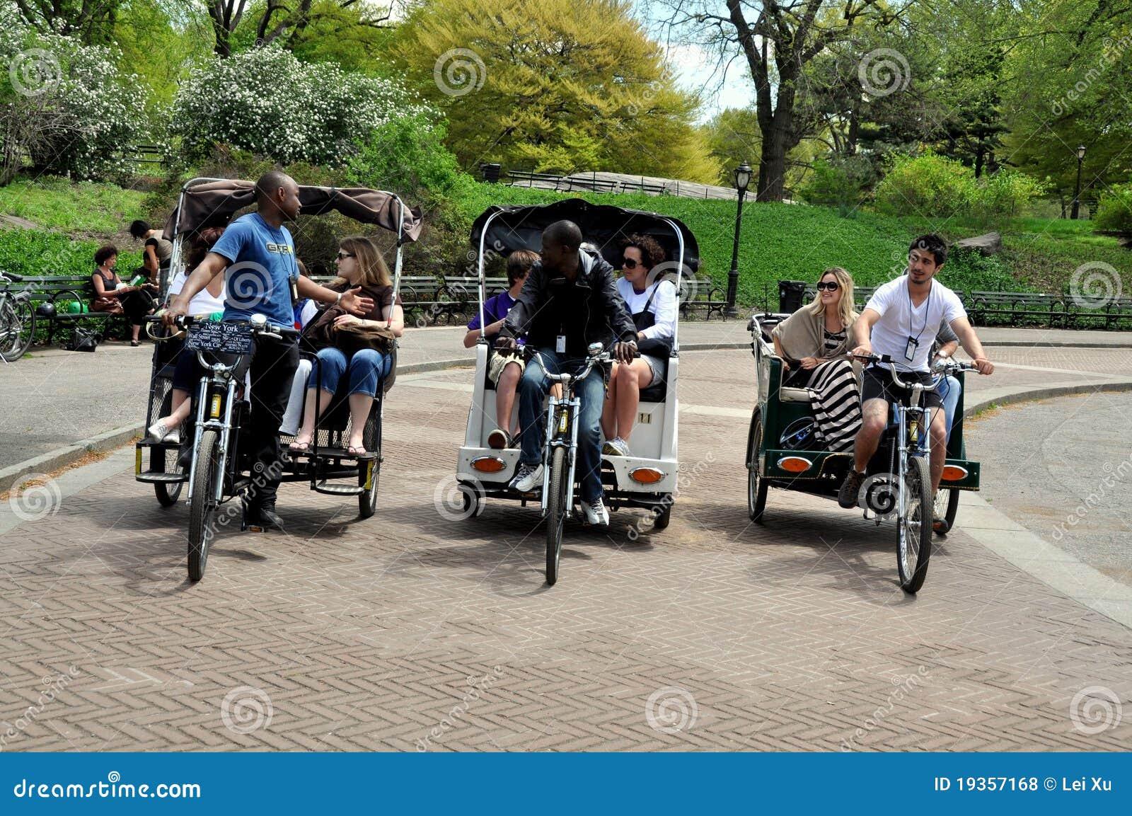 NYC: Três Pedicabs em Central Park