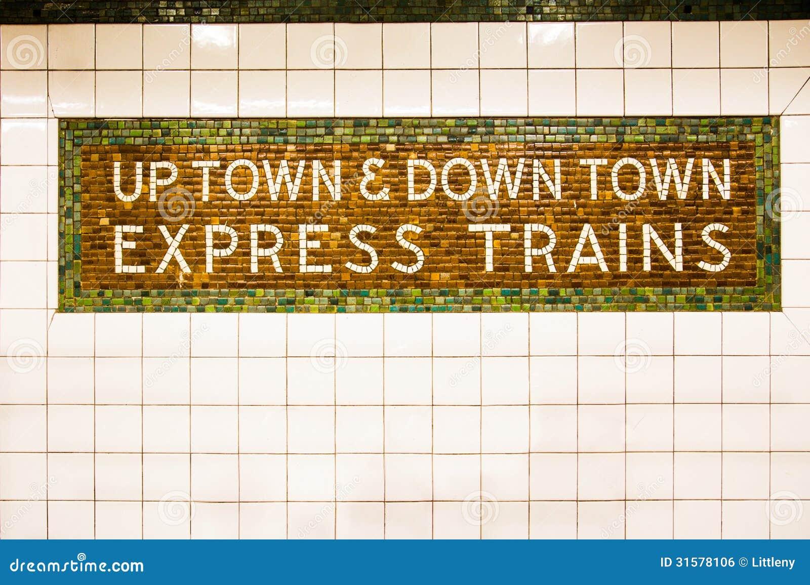 NYC-Untergrundbahn-Zeichen