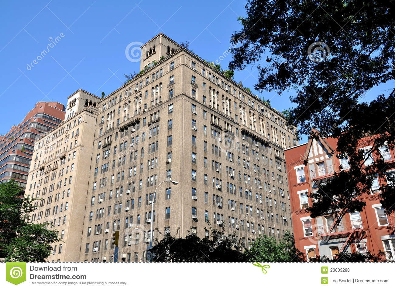 Nyc upper west side luxury co op building stock photo for Upper west side apartments nyc