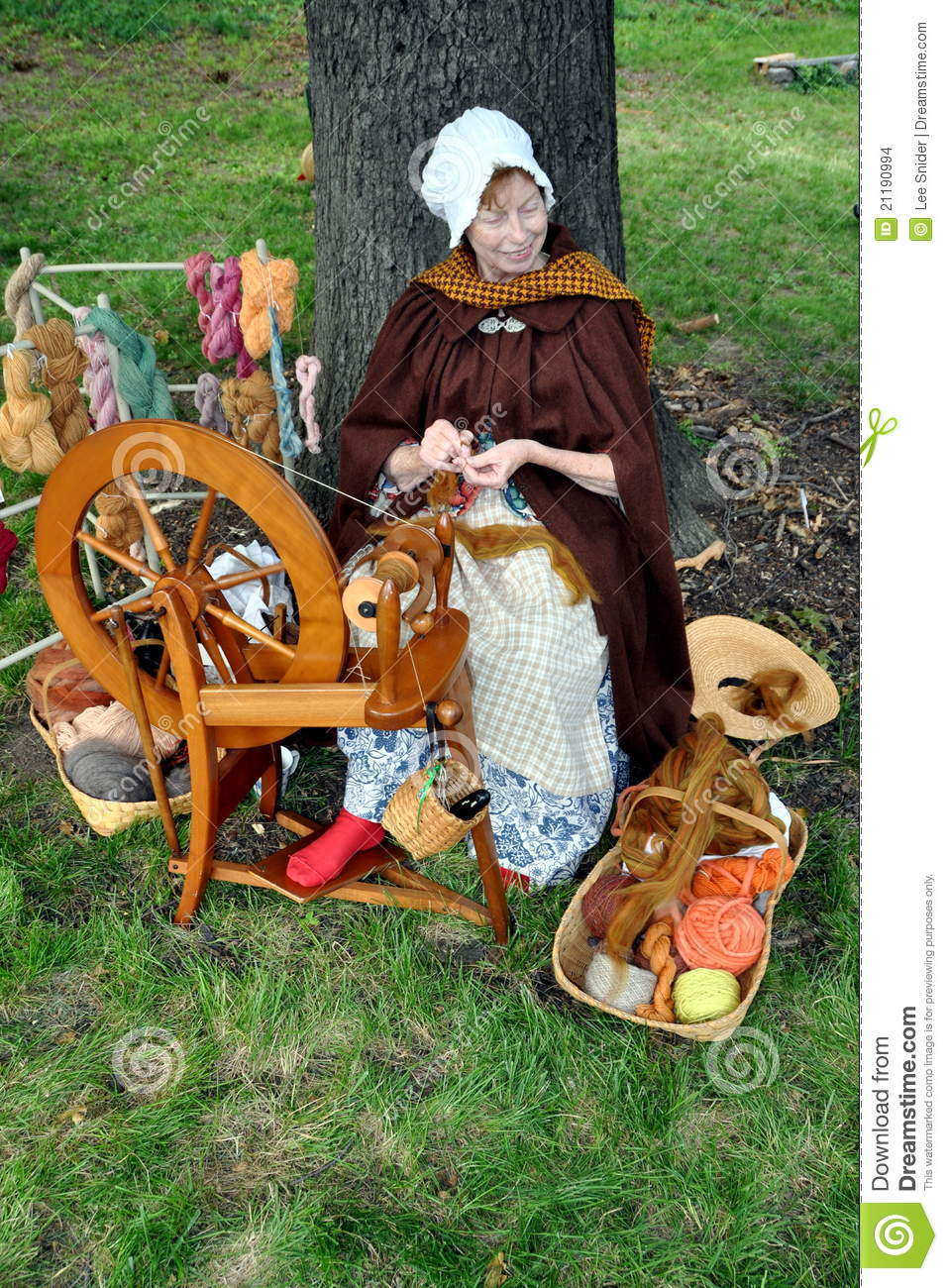 NYC: Woman Using Spinning Wheel