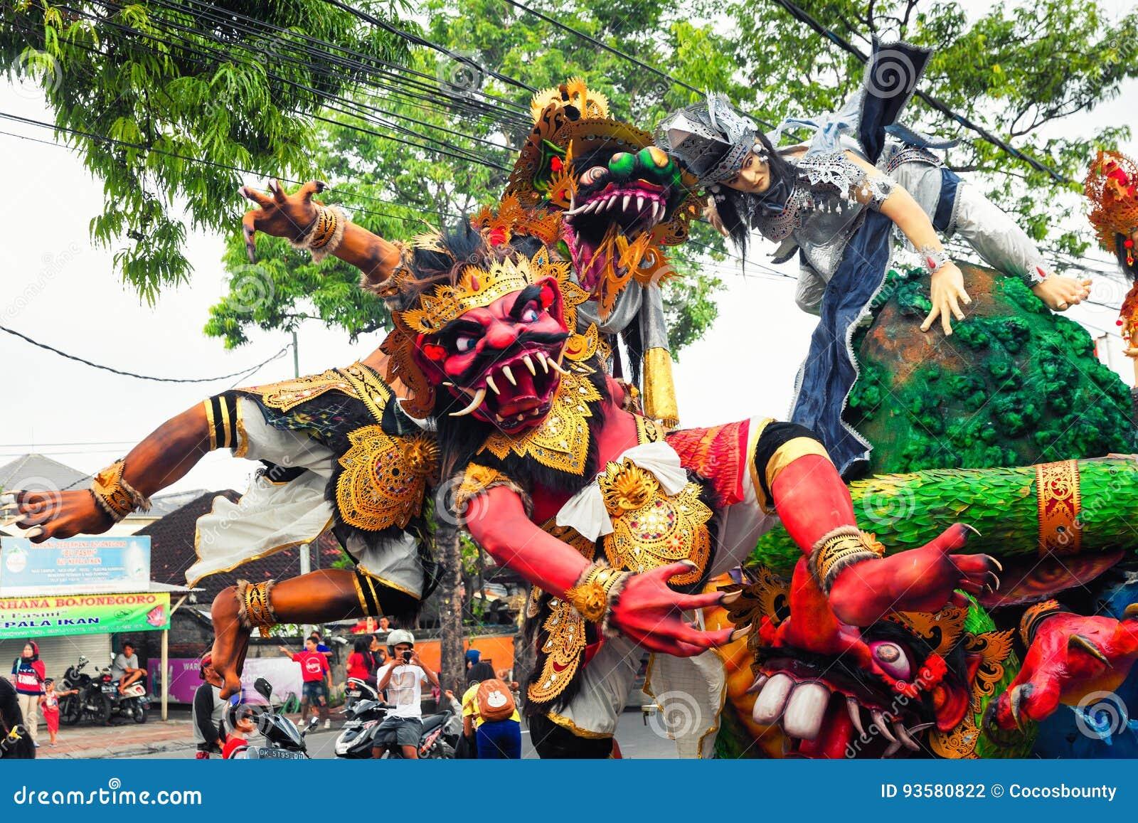 Nyepi -天沈默,在热带海岛巴厘岛上的新年好,