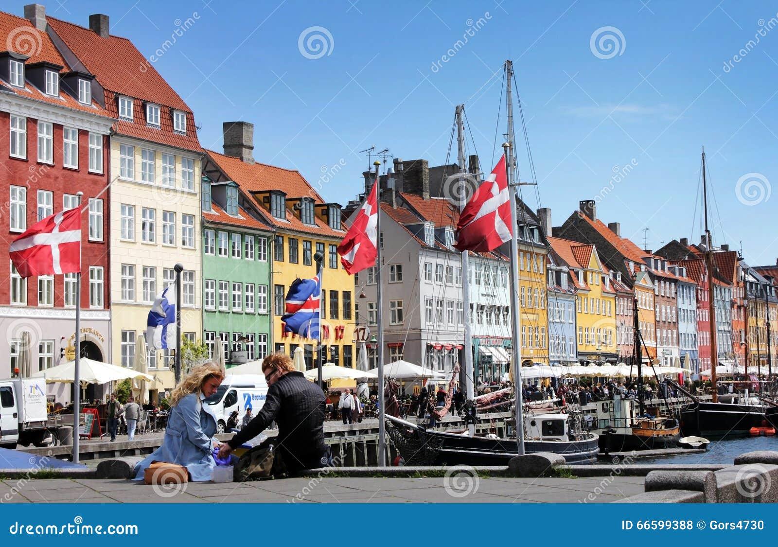 Nyhavn copenhagen Дании