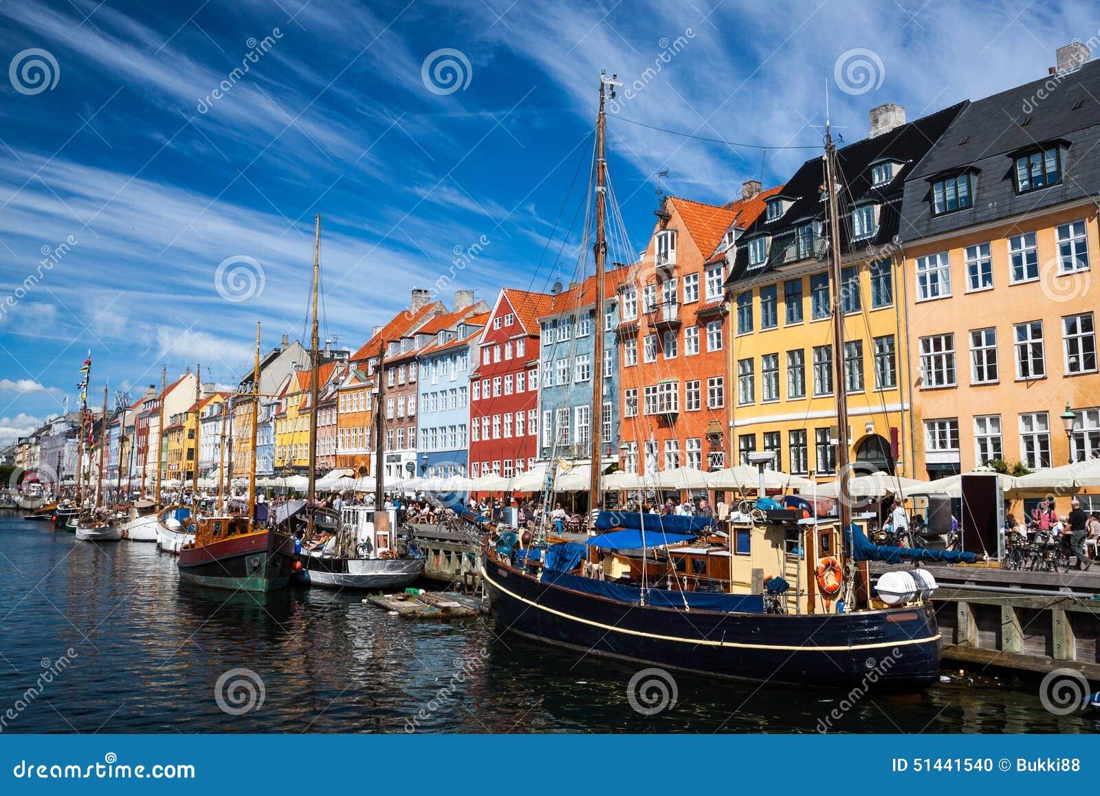 Download Nyhavn Harbour In Copenhagen, Denmark Stock Photo - Image of city, exterior: 51441540