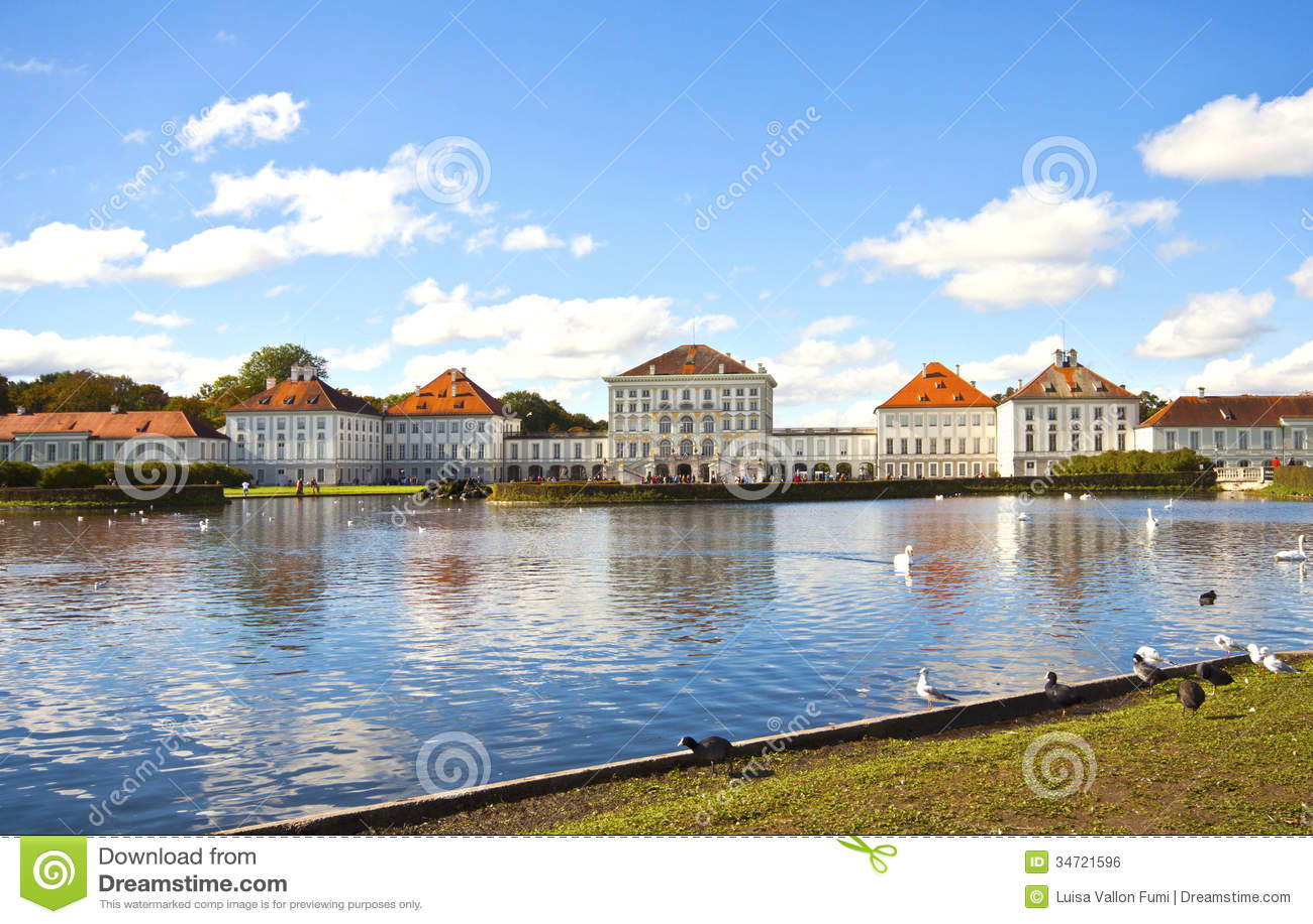 Nymphenburg Castle Near Munich Stock Photo Image 34721596