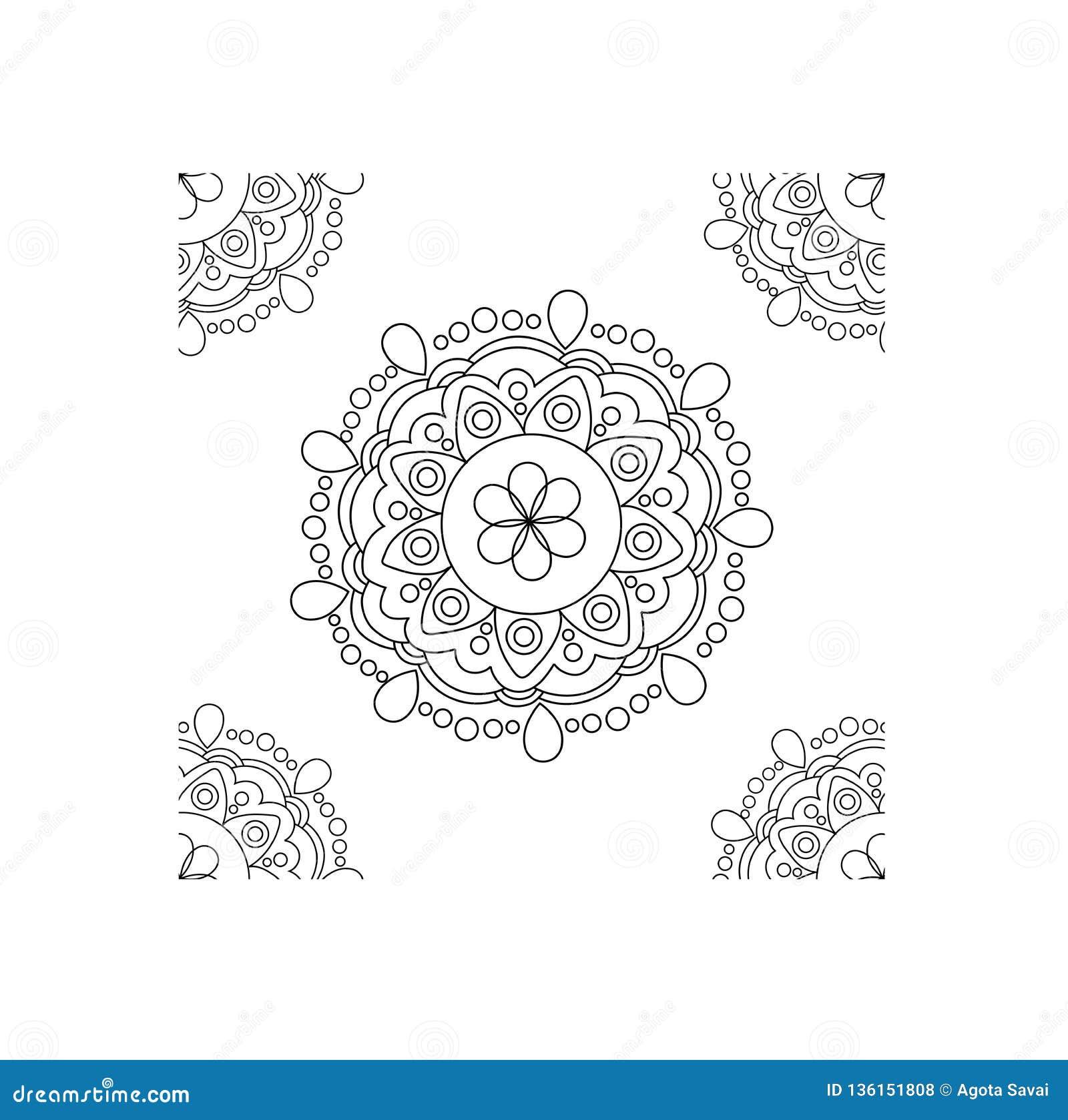 Vector Round Abstract Circle. Mandala Style. Luxury Pattern ...