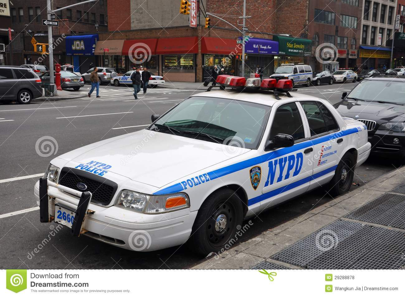 Police Cars In New York City Editorial Stock Image - Image: 17045374