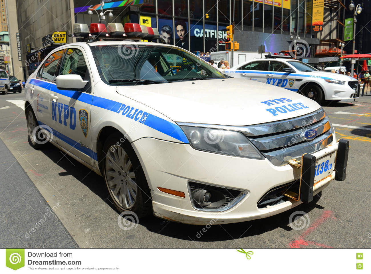 NYPD Ford Fusion Hybrid Police Car dans NYC