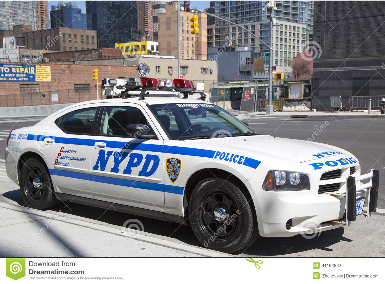 Nypd Highway Patrol Car In Manhattan Editorial Photography