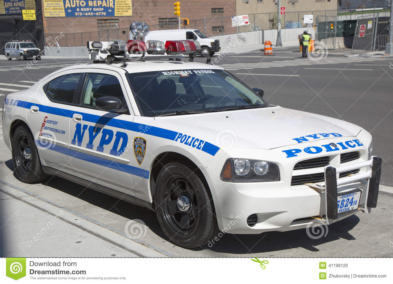 Nypd Highway Patrol Car In Manhattan Editorial Image