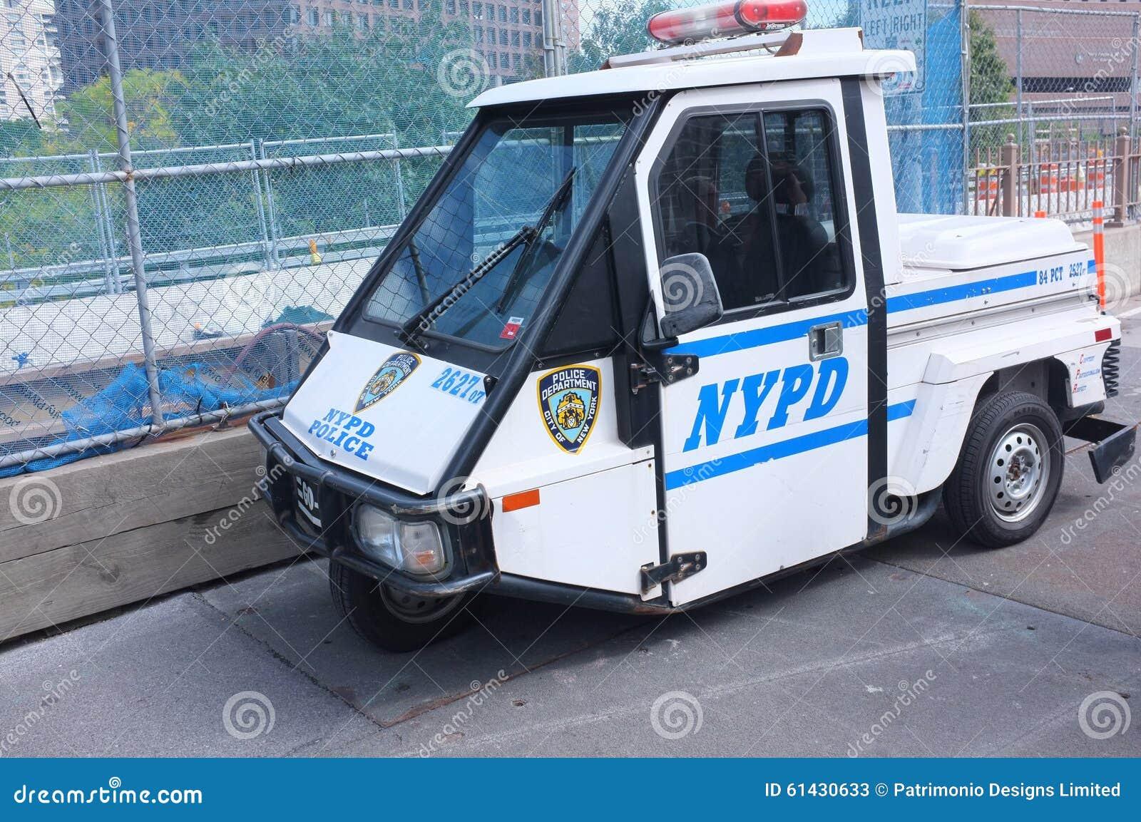 NYPD Police Scooter 3 Wheeler Car Editorial Stock Photo