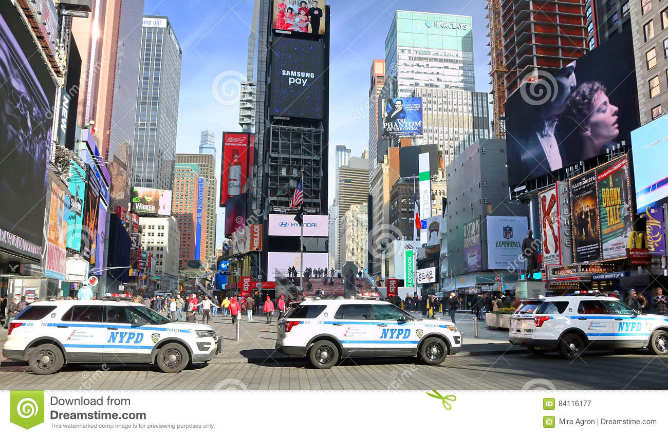 NYPD Security In Times Square