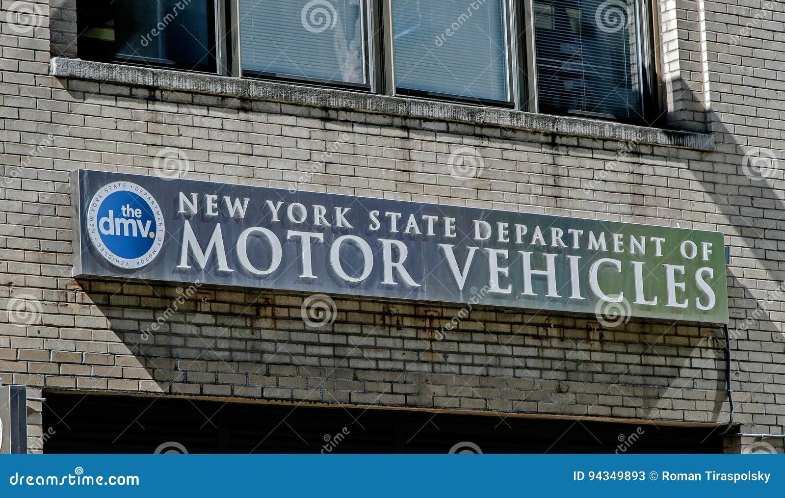 NYS DMV editorial stock photo  Image of blue, motor, york