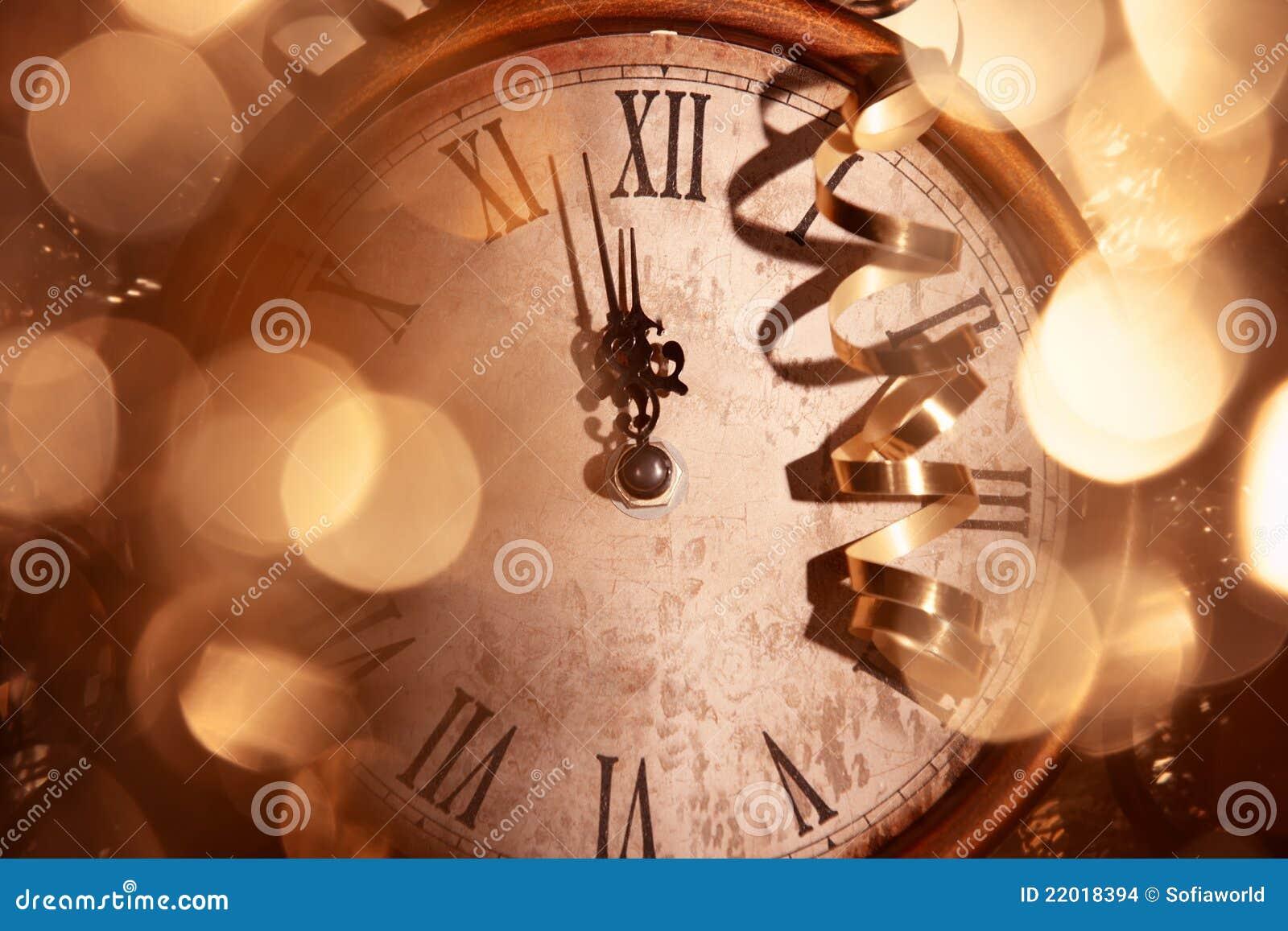Nytt år för klocka