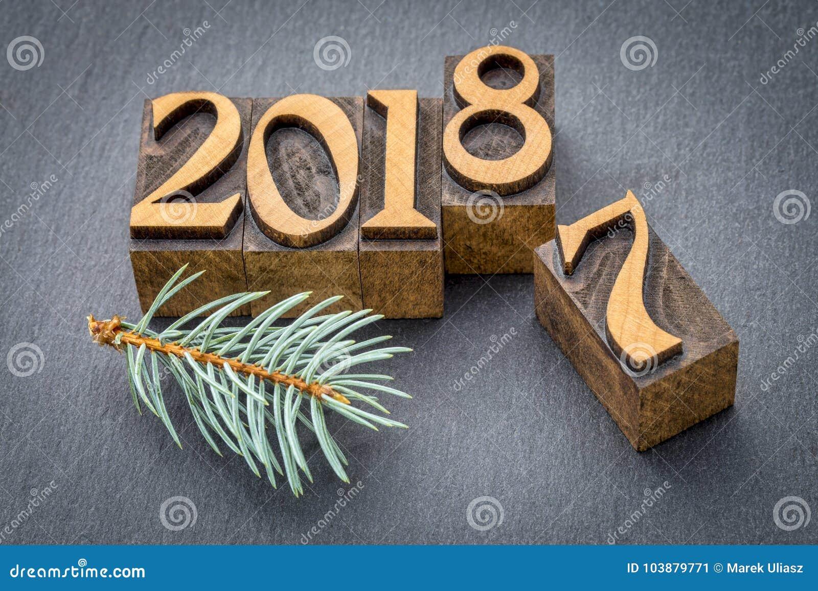 Nytt år 2018 i wood typ