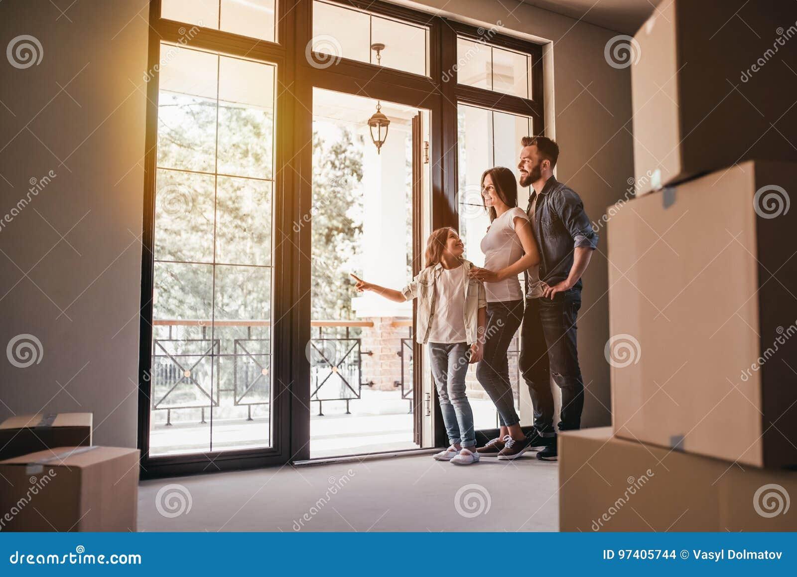 Nytt hus för familjinflyttning