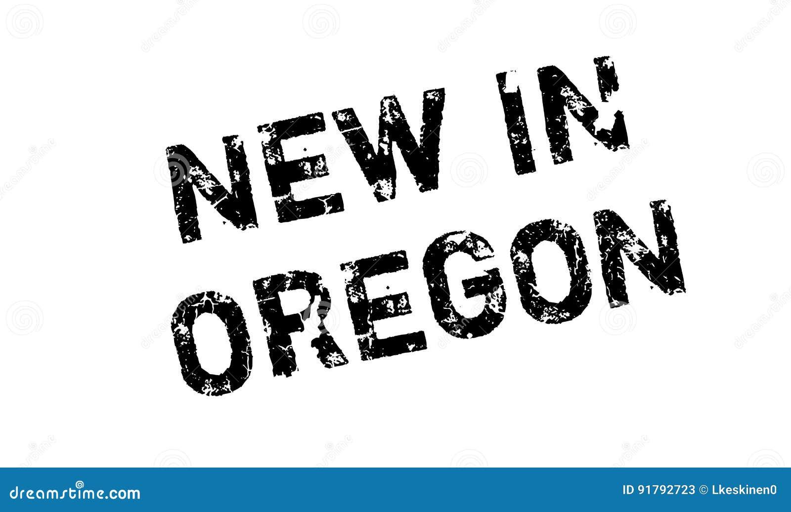 Nytt i Oregon den rubber stämpeln