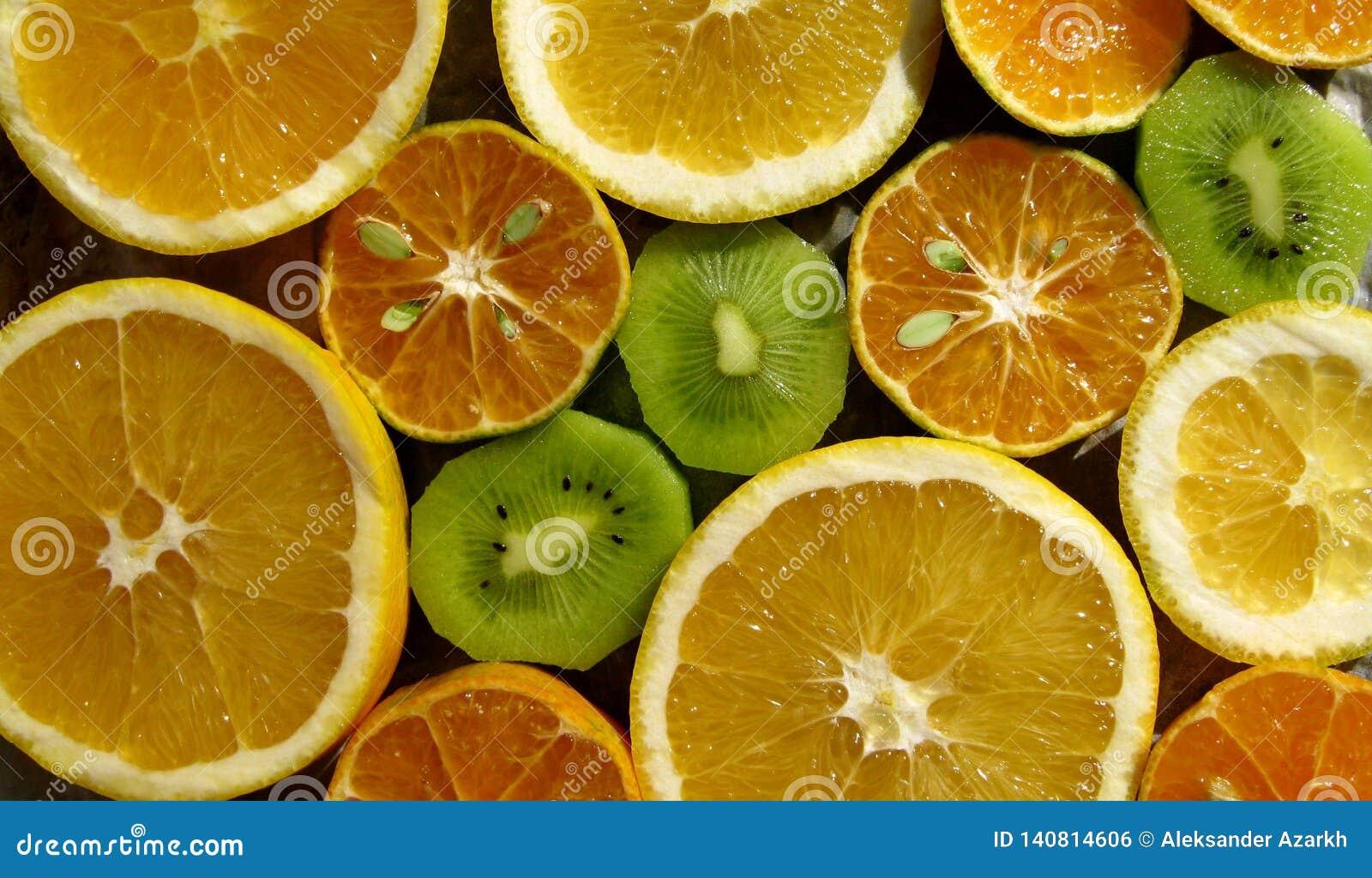 Nytt orange citrusfruktsnitt