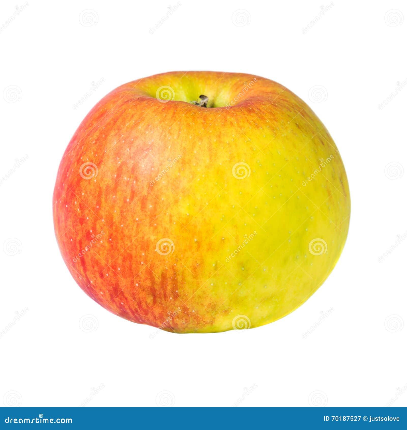 Nytt rött äpple på en vit bakgrund