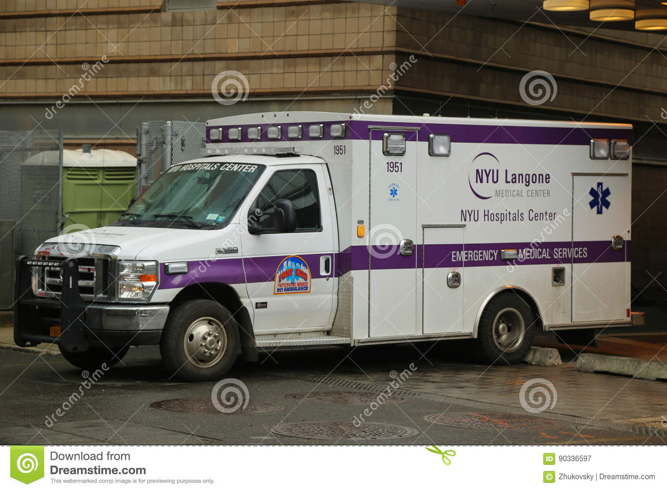 NYU Langone Medical Center Ambulance In Midtown Manhattan