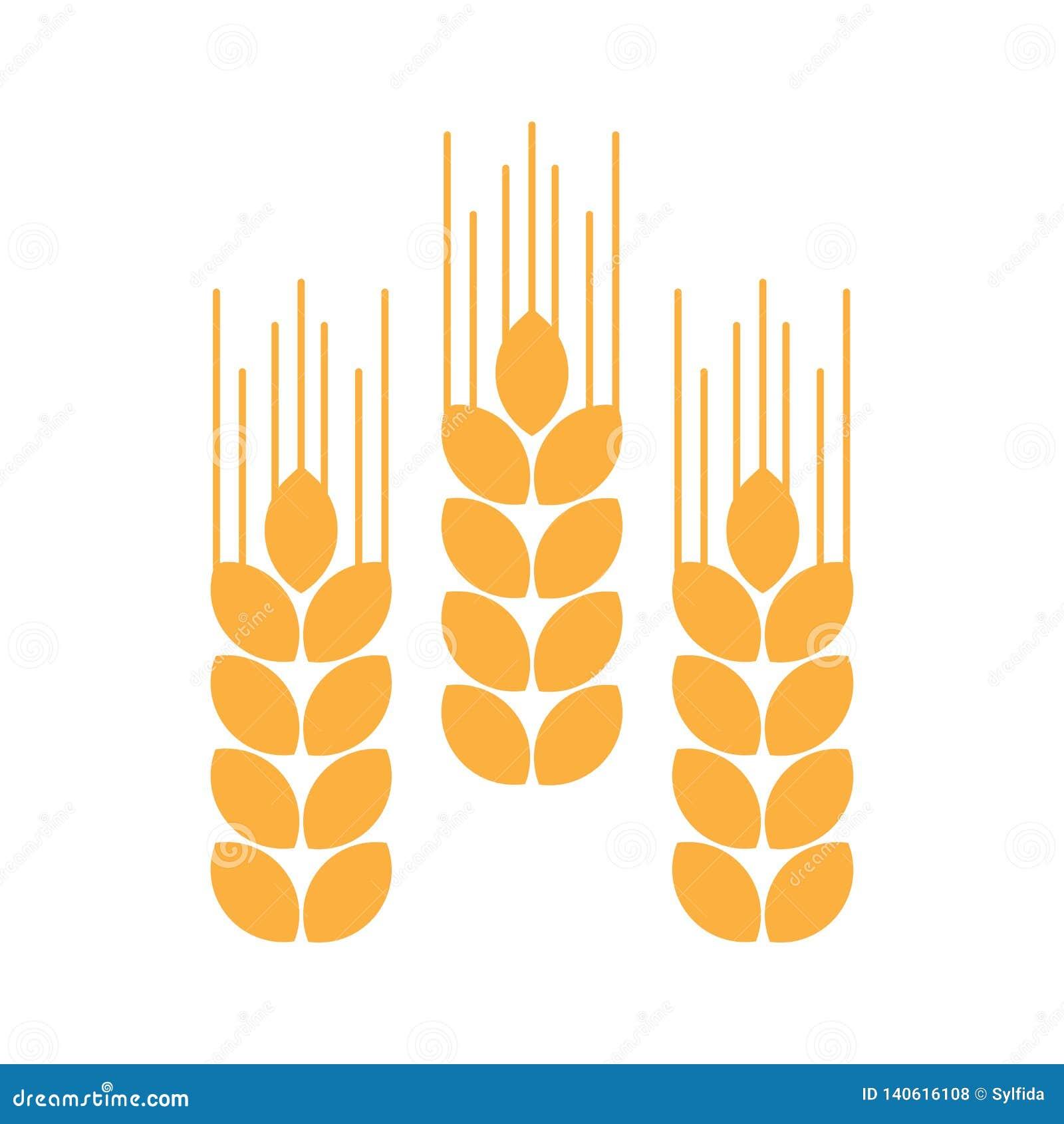 Oídos del trigo Ilustración del vector