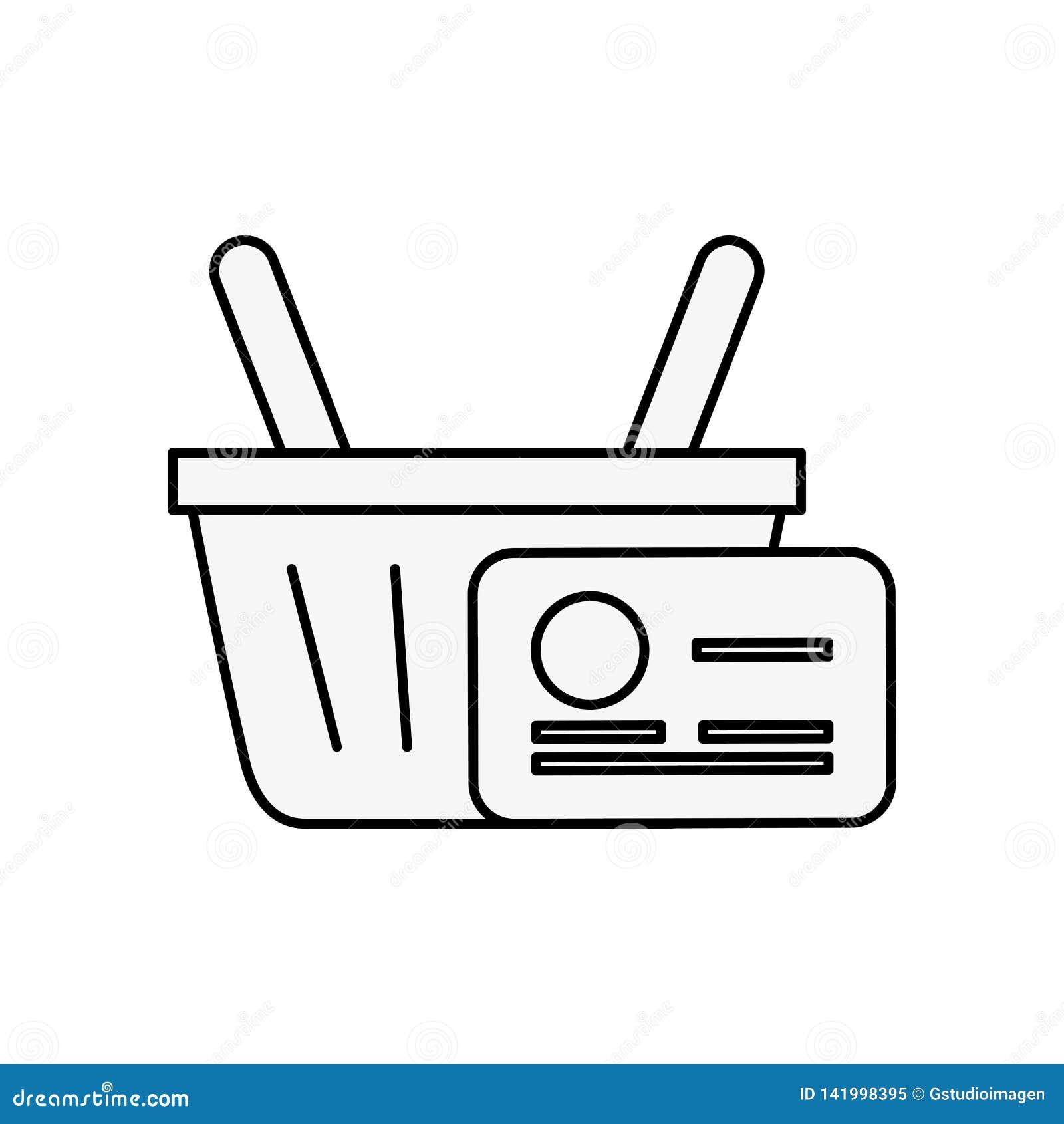 Онлайн груз кредитной карточки корзины для товаров
