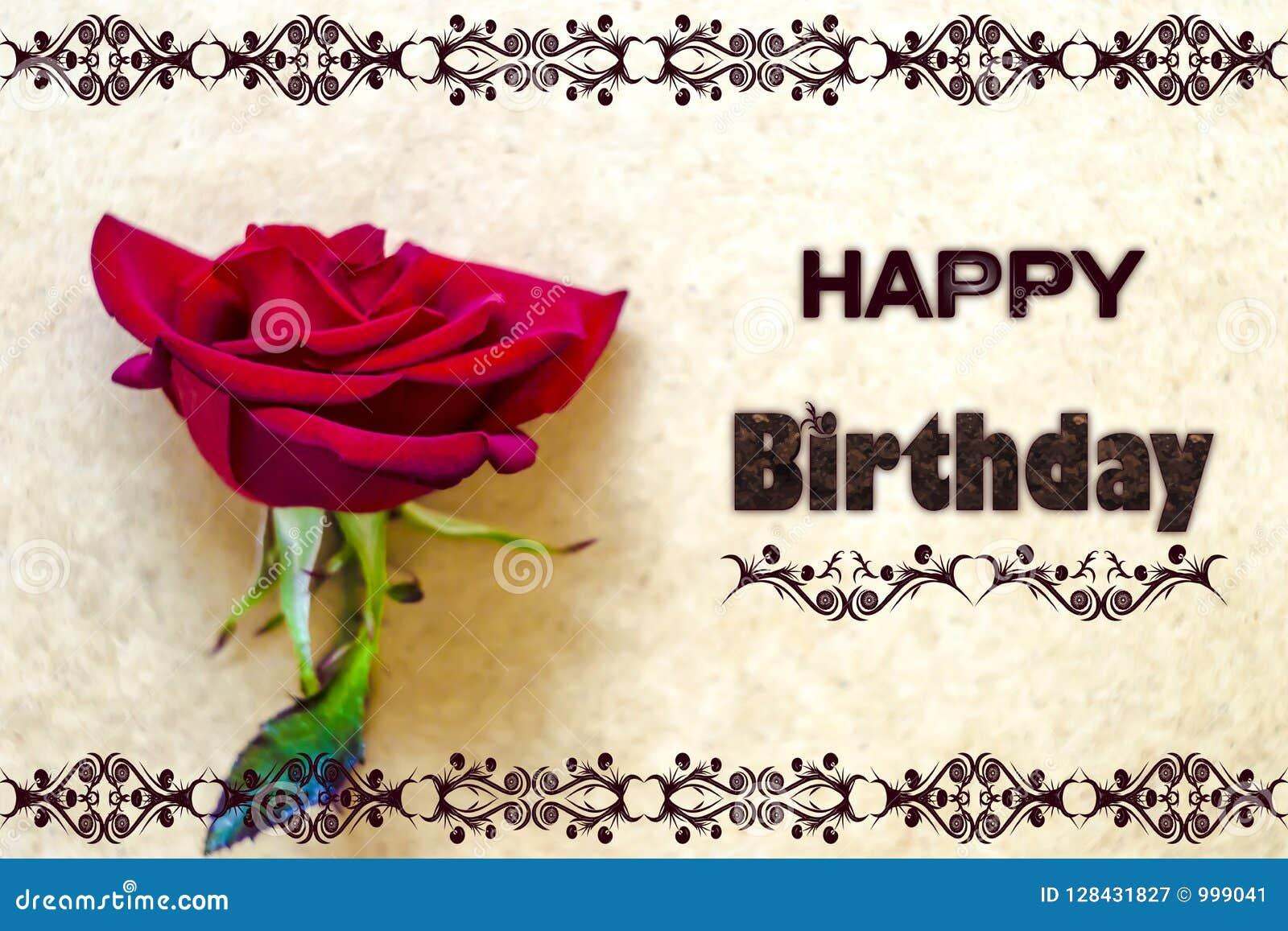 Happy birthday card foto