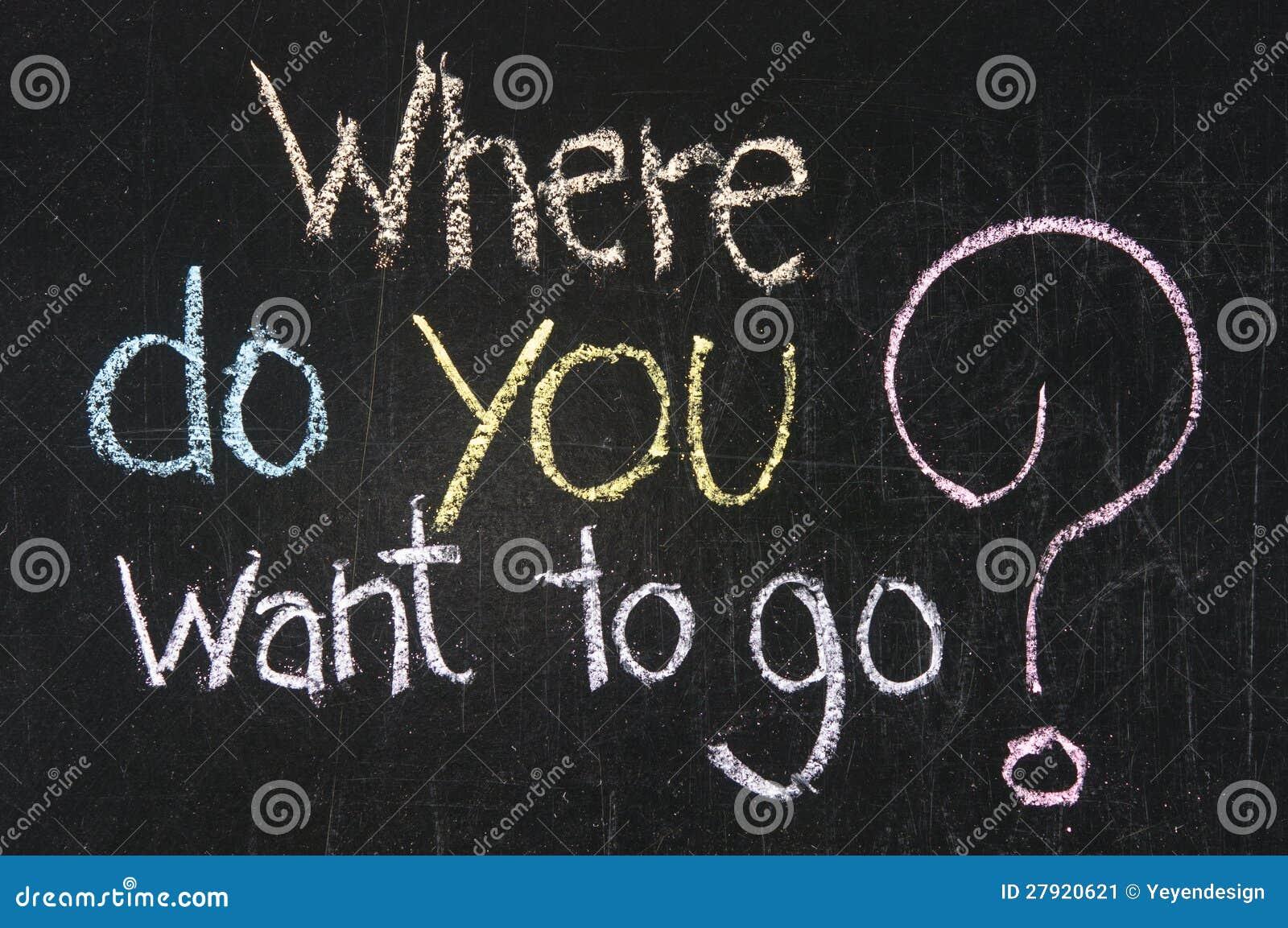 Où voulez-vous aller ?