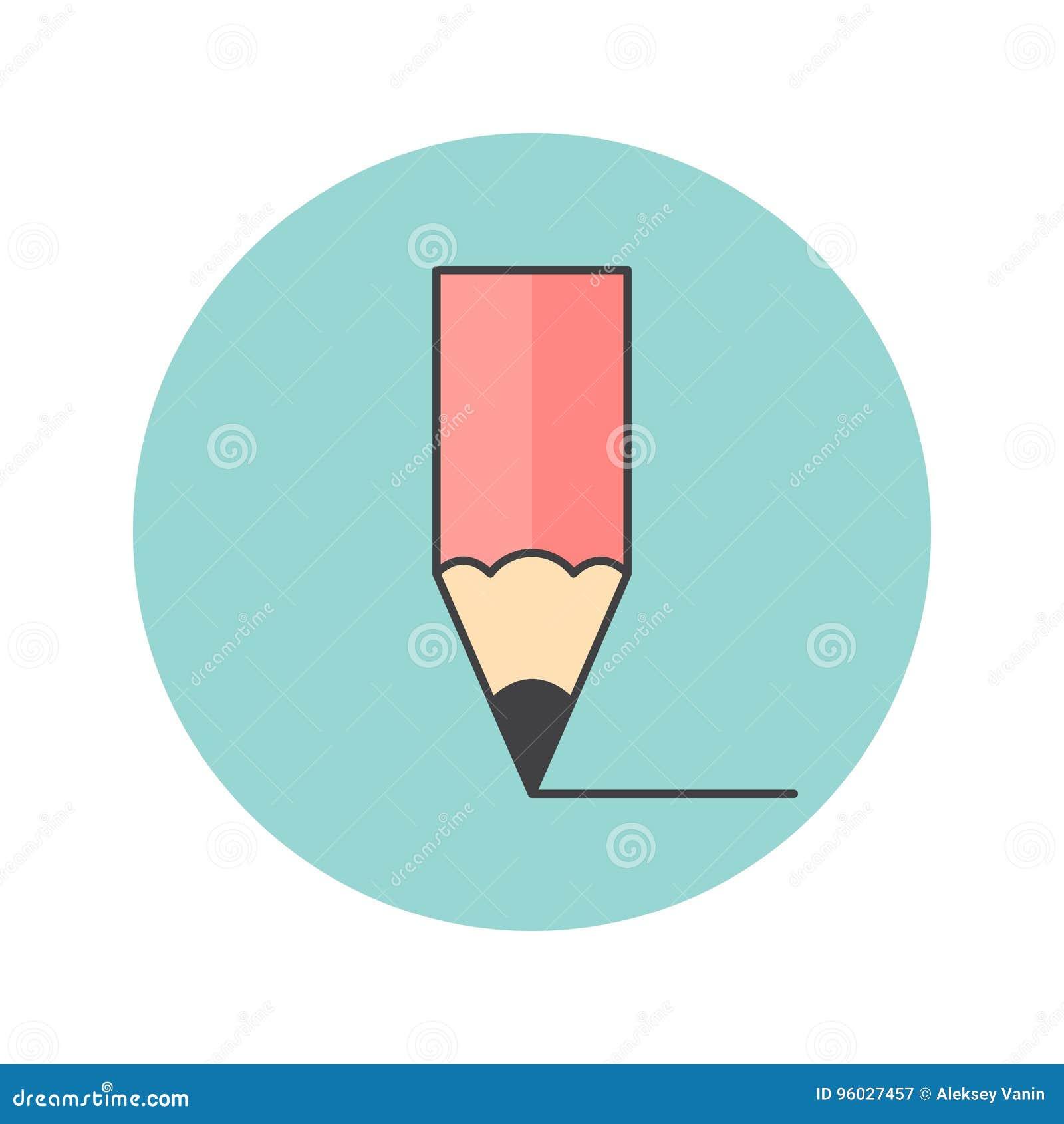 Ołówek cienka kreskowa ikona, redaguje wypełniającego konturu loga wektorowego illustrat