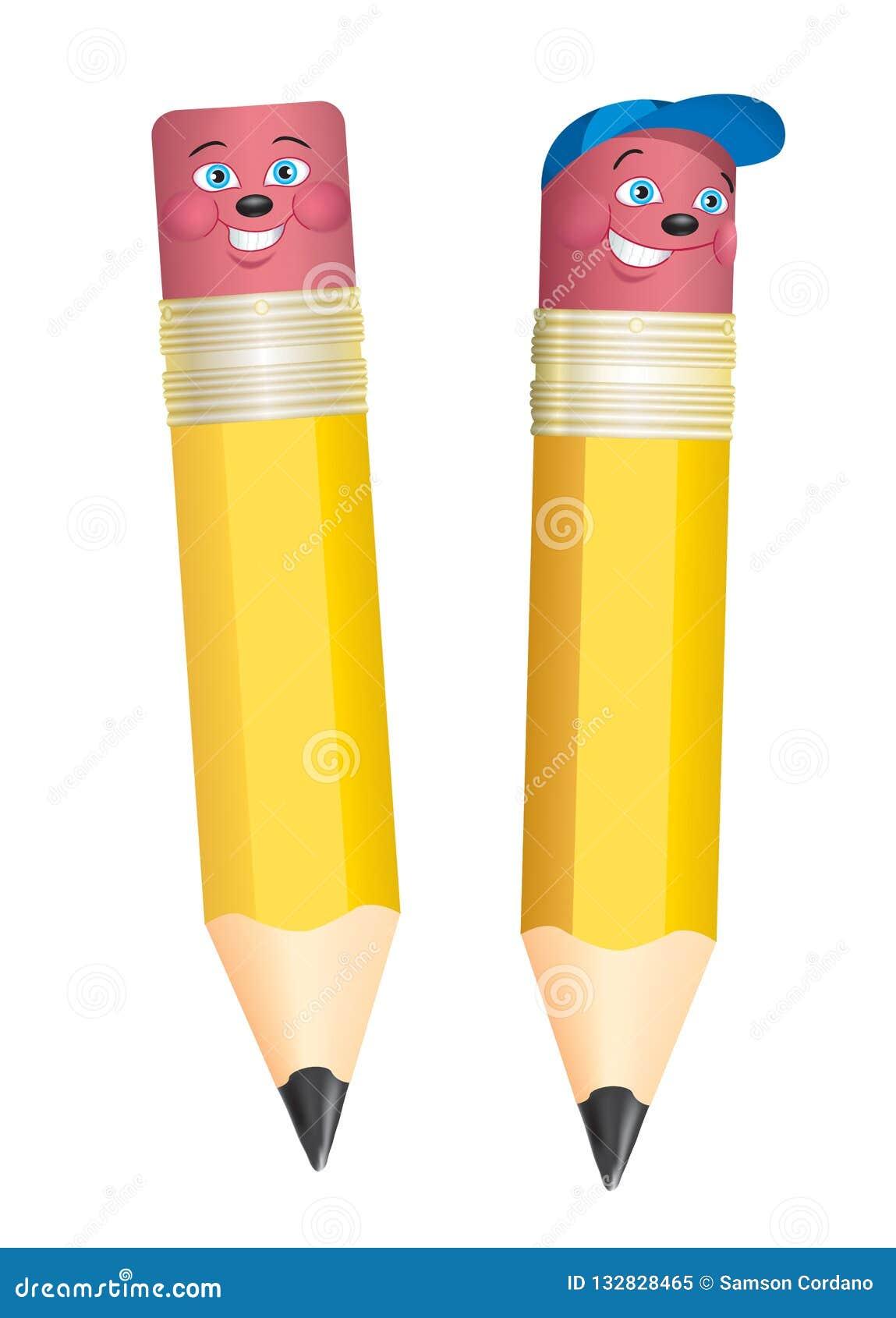 Ołówek postać z kreskówki dla promocyjnych reklam