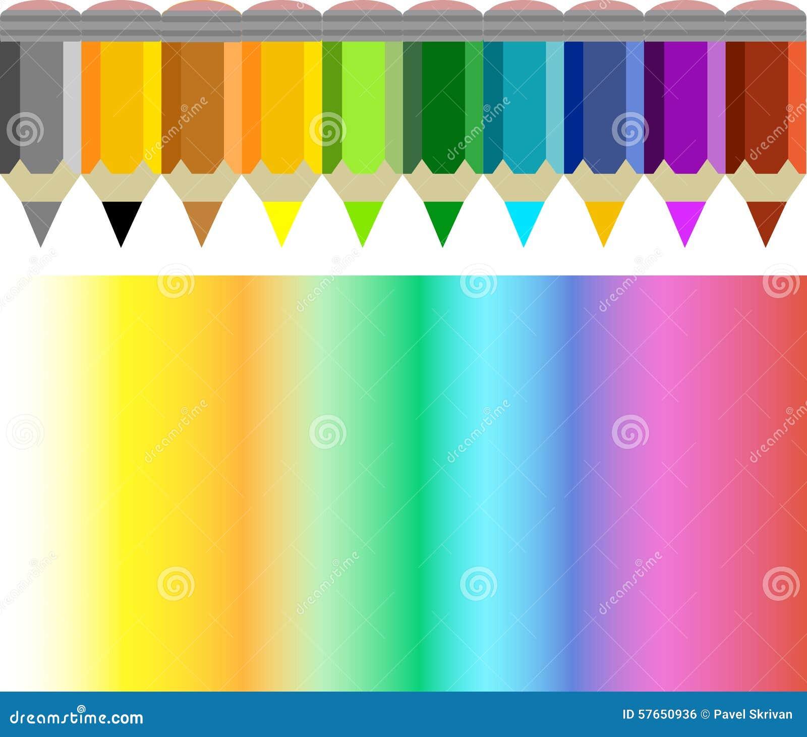 Ołówkowa i coloured tęcza