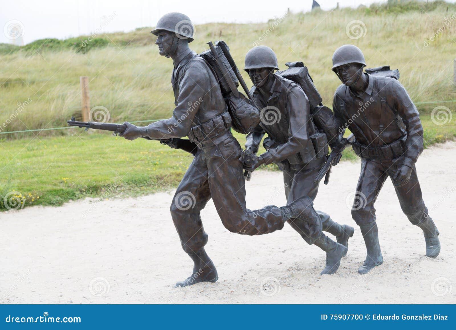 Żołnierze w Utah plaży