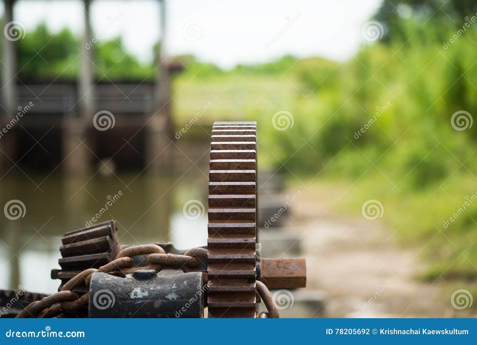 Ośniedziała i wazeliniarska wodnej bramy przekładnia