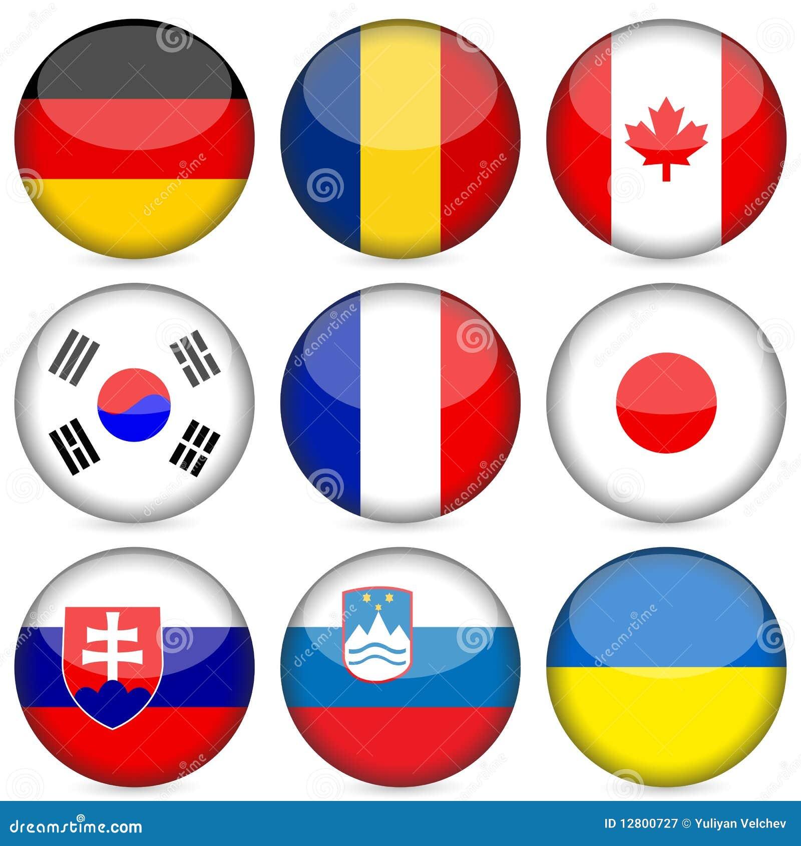 O ícone da bandeira nacional ajustou 3
