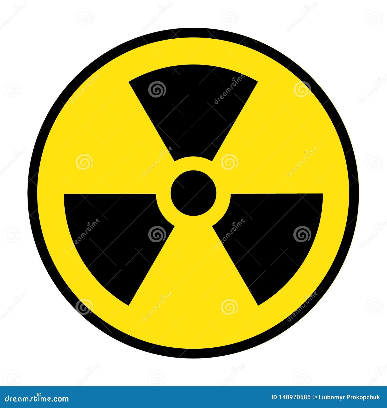 O ícone da radiação Símbolo da radiação