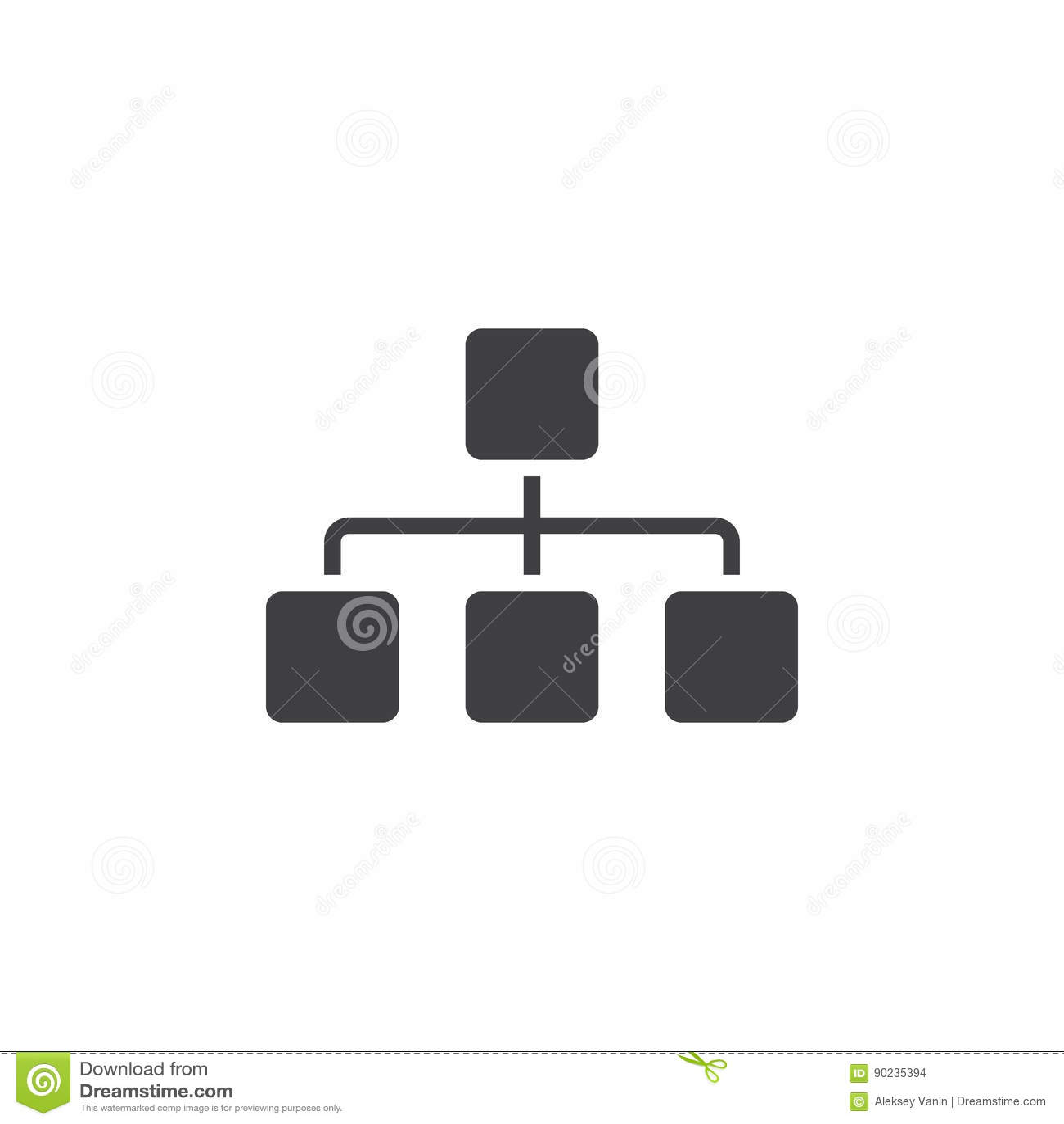 O ícone de Sitemap, faz um mapa da ilustração contínua do logotipo, pictograma é